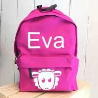 thumb-Backpack with name and sheap print-2