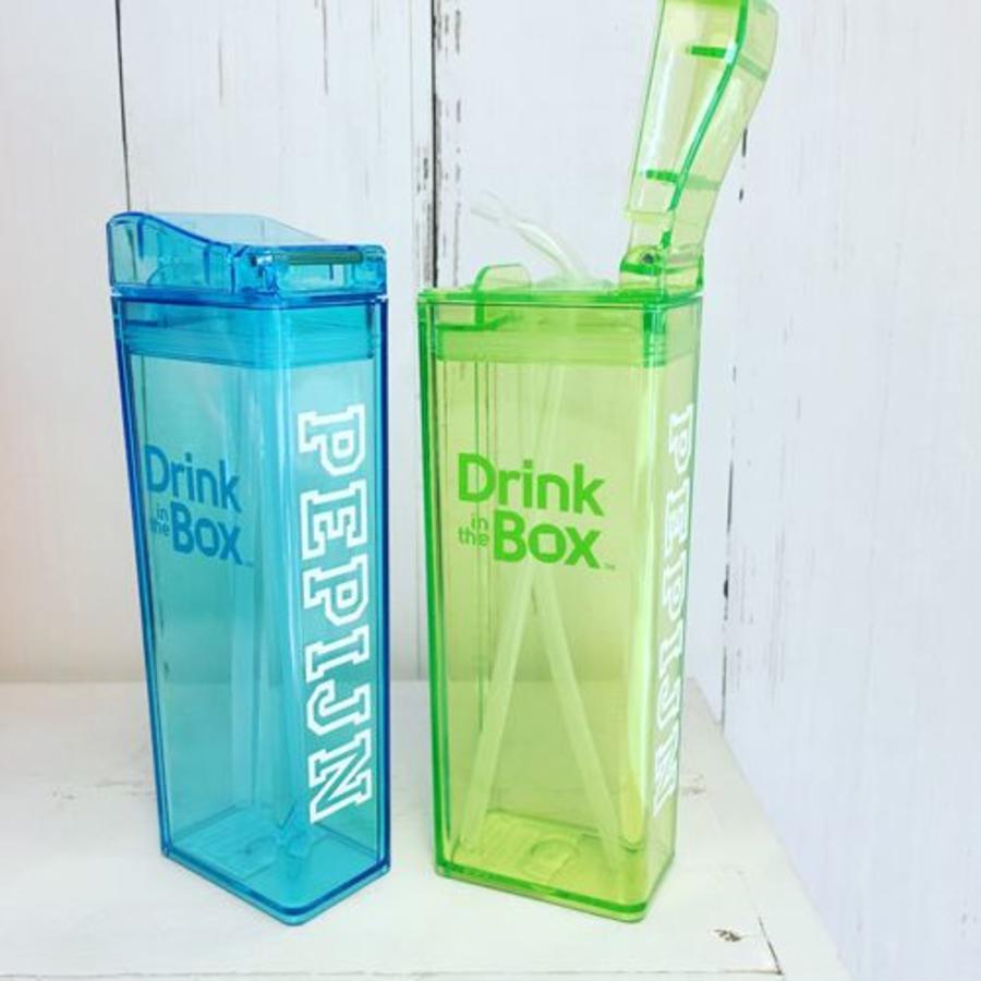 Naamstickers, 2 stuks voor Drink in The Box en Snack in the Box