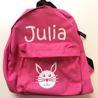 thumb-Backpack with name and rabbit print-1