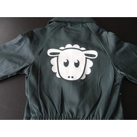 thumb-Coverall with a sheep printed on the back-1