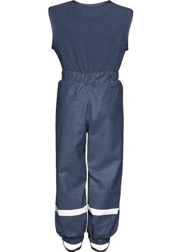 Playshoes Gevoerde navy blauwe  regenbroek met fleece top