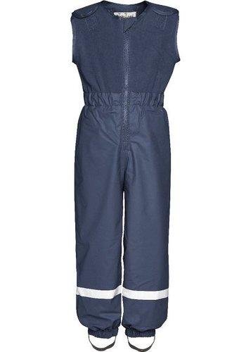 Playshoes Gevoerde navy blauwe  regen- en skibroek met fleece top