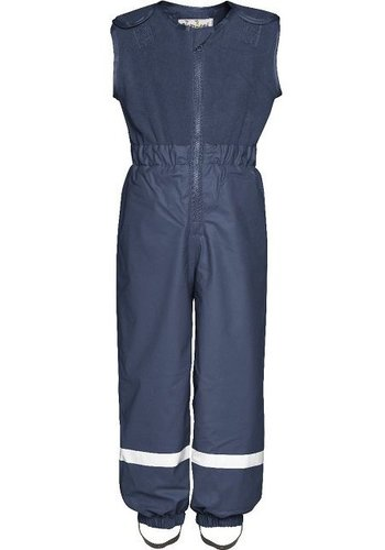 Playshoes Padded navy blue rain and ski pants with fleece top