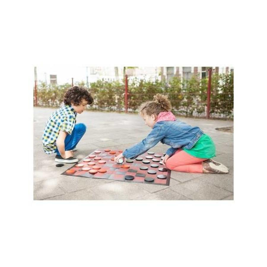 Checkers game set for indoors and outdoors-1