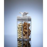 Snack in the Box  - doorzichtig met wit deksel
