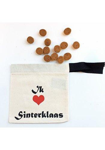 Pepernoten bag with I love Sinterklaas (in Dutch)
