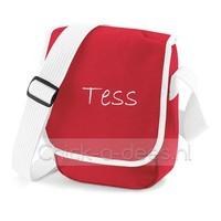 Postbodetas 'Postmanbag', mini, met naambedrukking