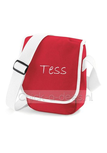 Mini  messengerbag met naambedrukking