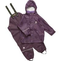 thumb-Rain trousers and raincoat with stars print| 90-120-1