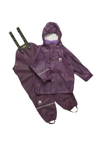 CeLaVi Purple rain suit with stars