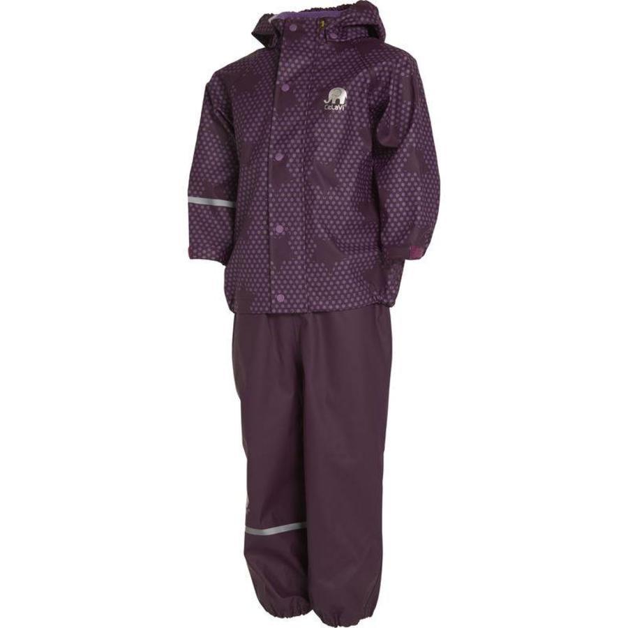 Rain trousers and raincoat with stars print| 90-120-2