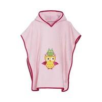 thumb-Pink beach poncho, bath poncho - Owl-2