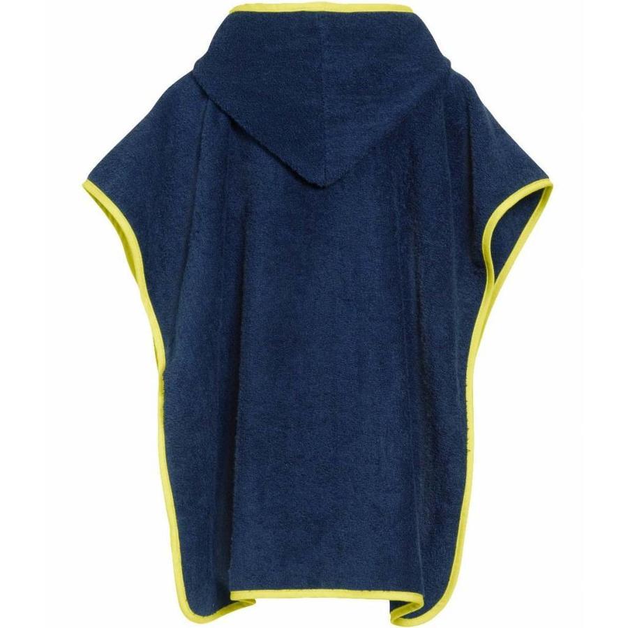 Blauwe badcape, strand poncho met capuchon - Brandweer-2