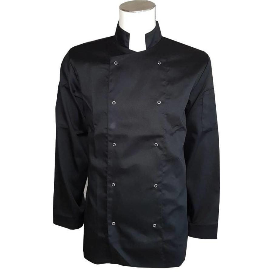 Chef's jacket, chef's jacket in black or white with press studs-1