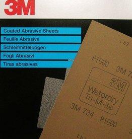 3M waterproof schuurpapier (per vel)