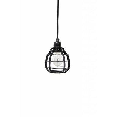 HK Living lab lamp zwart (met pendel)