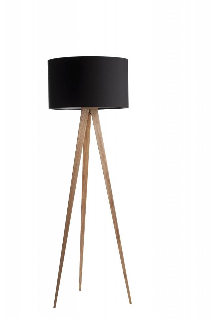 zuiver lampen vloerlamp tripod hout zwart nordic living. Black Bedroom Furniture Sets. Home Design Ideas