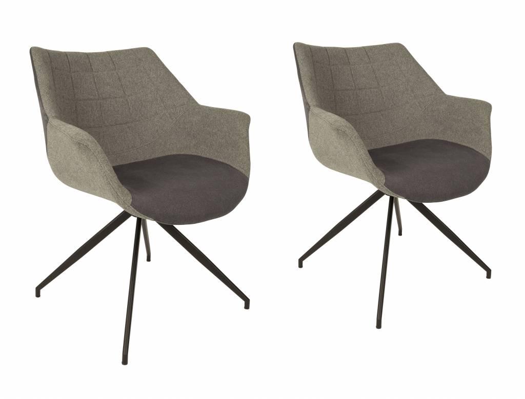Zuiver Doulton stoel - grijs - Nordic Living