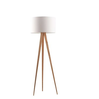 Zuiver Vloerlamp Tripod hout wit