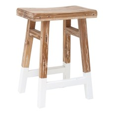 HK Living kruk reclaimed teak wit