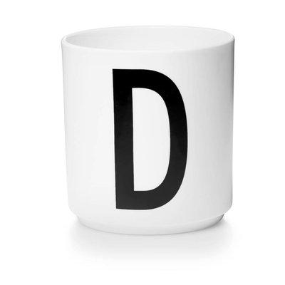 Design Letters Aj porseleinen mok - D