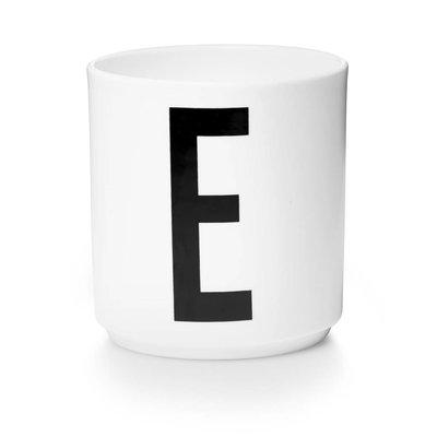 Design Letters Aj porseleinen mok - E