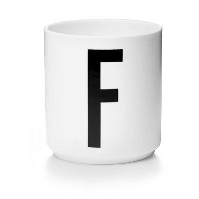 Design Letters Aj porseleinen mok - F