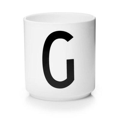 Design Letters Aj porseleinen mok - G