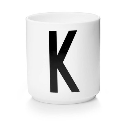 Design Letters Aj porseleinen mok - K