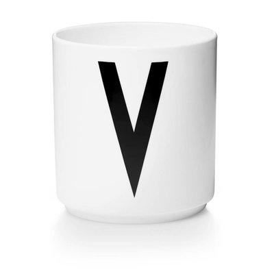 Design Letters Aj porseleinen mok - V