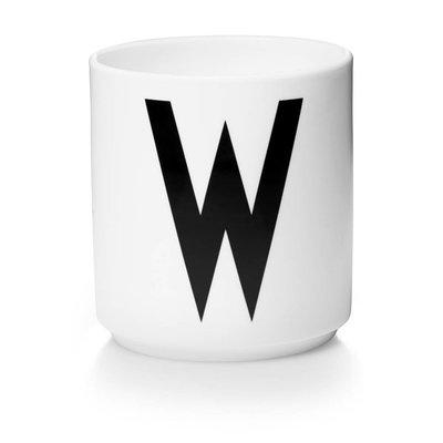 Design Letters Aj porseleinen mok - W