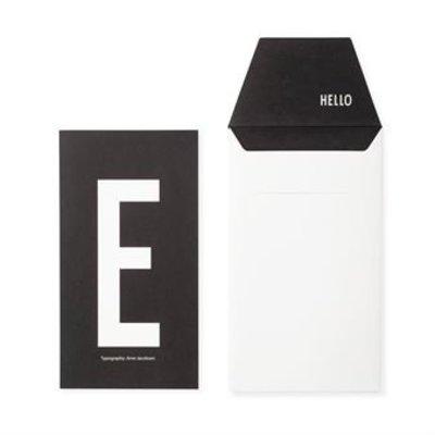 Design Letters Letter kaart - E