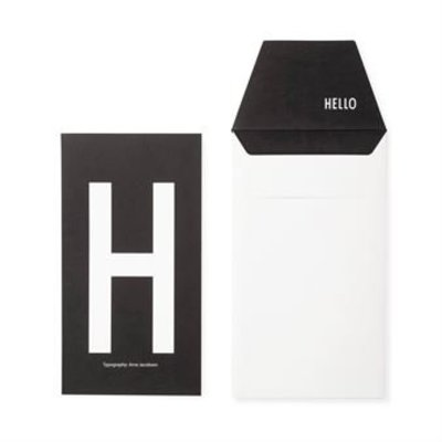 Design Letters Letter kaart - H