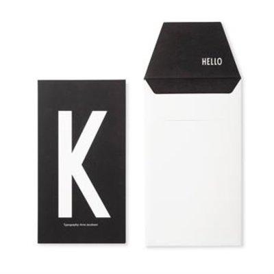 Design Letters Letter kaart - K