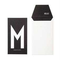 Design Letters Letter kaart - M