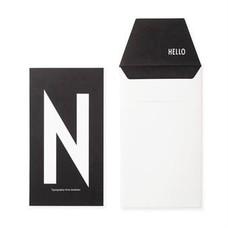 Design Letters Letter kaart - N