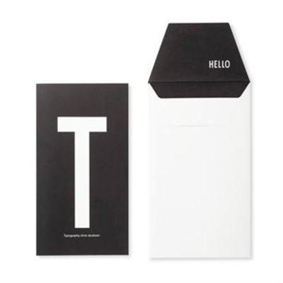 Design Letters Letter kaart - T