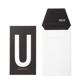 Design Letters Letter kaart - U