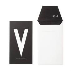 Design Letters Letter kaart - V