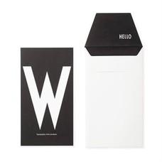 Design Letters Letter kaart - W