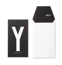 Design Letters Letter kaart - Y