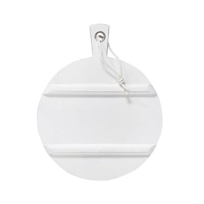 HK Living Broodplank rond medium witte randen
