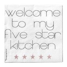 "Bloomingville Servetten ""Welcome to my five start kitchen"""