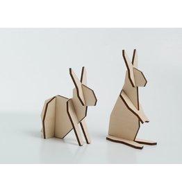 Atelier Pierre Nordic puzzel 2 konijntjes Medium