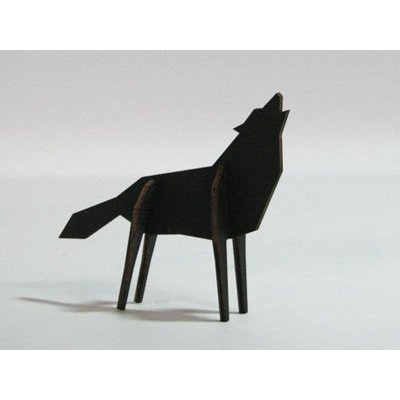 Atelier Pierre Nordic puzzel Wolf Medium Black