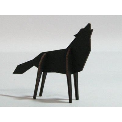Atelier Pierre Nordic puzzel Wolf Small Black