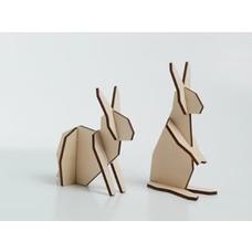Atelier Pierre Nordic puzzel koppel konijntjes Small