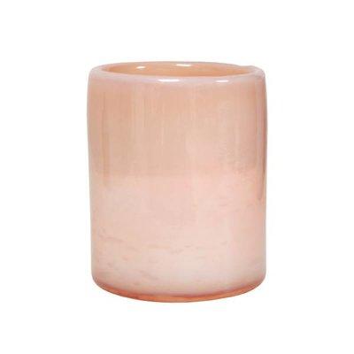 HK Living Waxinelichthouder wolkenglas roze