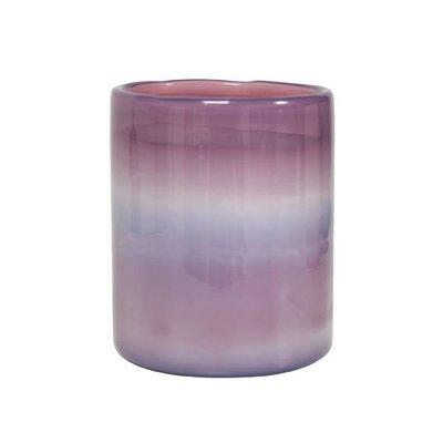HK Living Waxinelichthouder wolkenglas paars