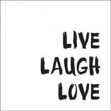 Tile Junkie Tegelsticker Live Laugh Love